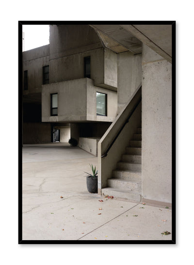 Minimalist design poster by Opposite Wall with urban photography of Montreal Habitat 67