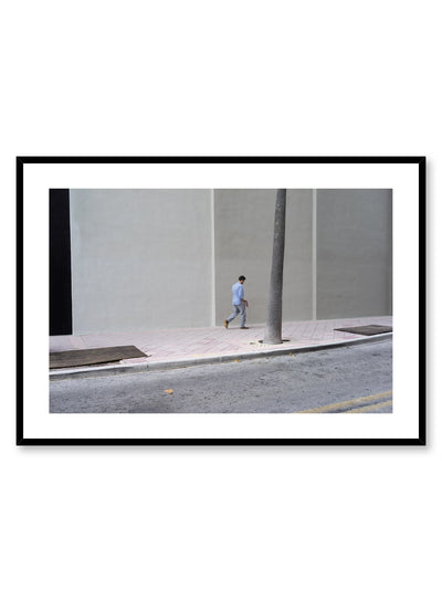 Minimalist design poster by Opposite Wall with urban street photography of city stroll