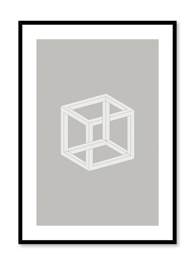 Minimalist design poster by Opposite Wall with abstract cube