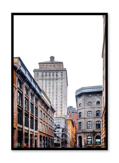 Minimalist design poster by Opposite Wall with urban city photography of Old Port Montreal