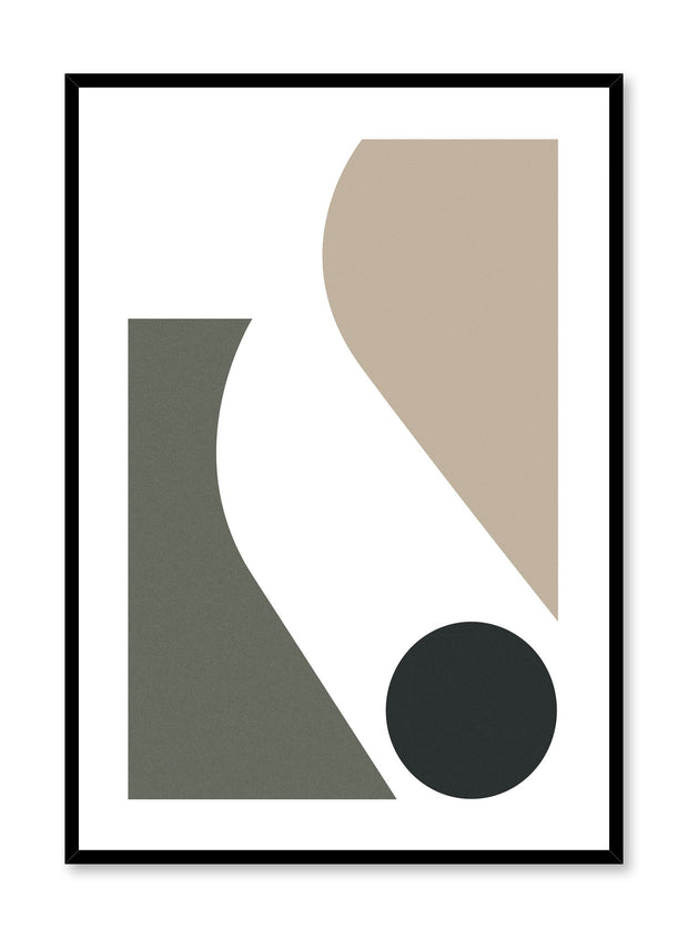 Minimalist design poster by Opposite Wall with abstract curved shapes