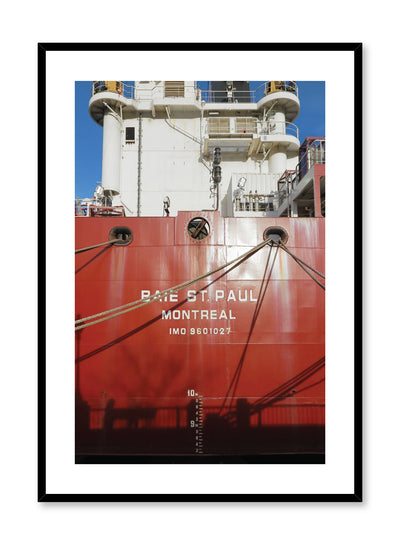 Minimalist design poster by Opposite Wall with urban photography of cargo ship