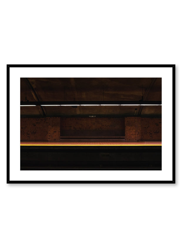 Minimalist design poster by Opposite Wall with urban street photography of Montreal Namur metro station