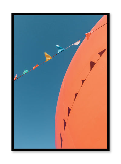 Minimalist design poster by Opposite Wall with urban street photography of Montreal Orange Julep