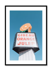 Minimalist design poster by Opposite Wall with urban street photography of Montreal Gibeau Orange Julep