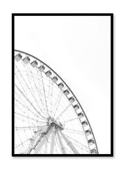 Minimalist design poster by Opposite Wall with urban photography of Montreal Grande Roue Ferris Wheel