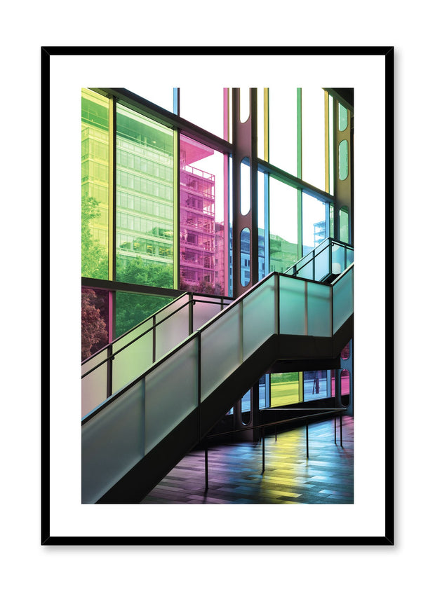 Minimalist design poster by Opposite Wall with urban photography of Montreal Palais des congrès