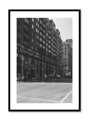 Minimalist design poster by Opposite Wall with black and white urban street photography in Montreal Canada
