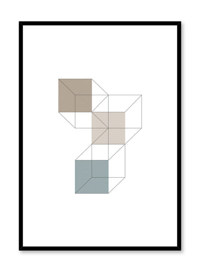Minimalist design poster by Opposite Wall with abstract stacked colourful cubes