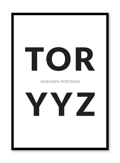 Minimalist design poster by Opposite Wall with airport code Toronto YYZ