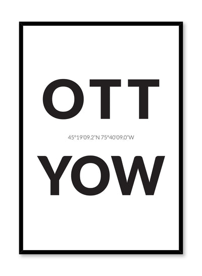 Minimalist design poster by Opposite Wall with airport code Ottawa YOW