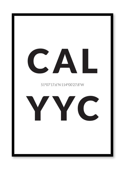 Minimalist design poster by Opposite Wall with airport code Calgary YYC