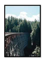 Minimalist design poster by Opposite Wall with nature photography of Vancouver Island Ten Feet Tall abandoned railway