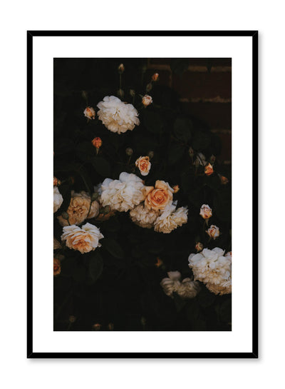 Minimalist design poster by Opposite Wall with bricks and blooms floral photography
