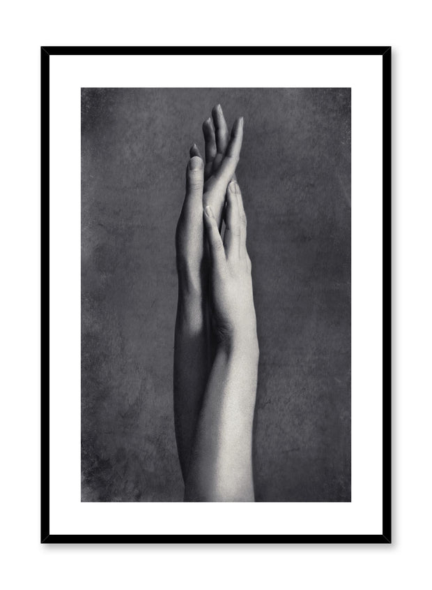 Minimalist design photography poster of black and white Hands by Love Warriors Creative Studio - Buy at Opposite Wall