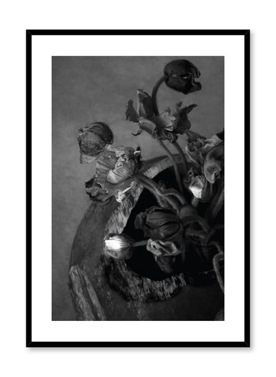 Minimalist design floral photography poster of black and white Dried Bouquet by Love Warriors Creative Studio - Buy at Opposite Wall