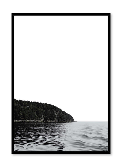 Minimalist design poster by Opposite Wall with nature photography of Vancouver Island and ocean