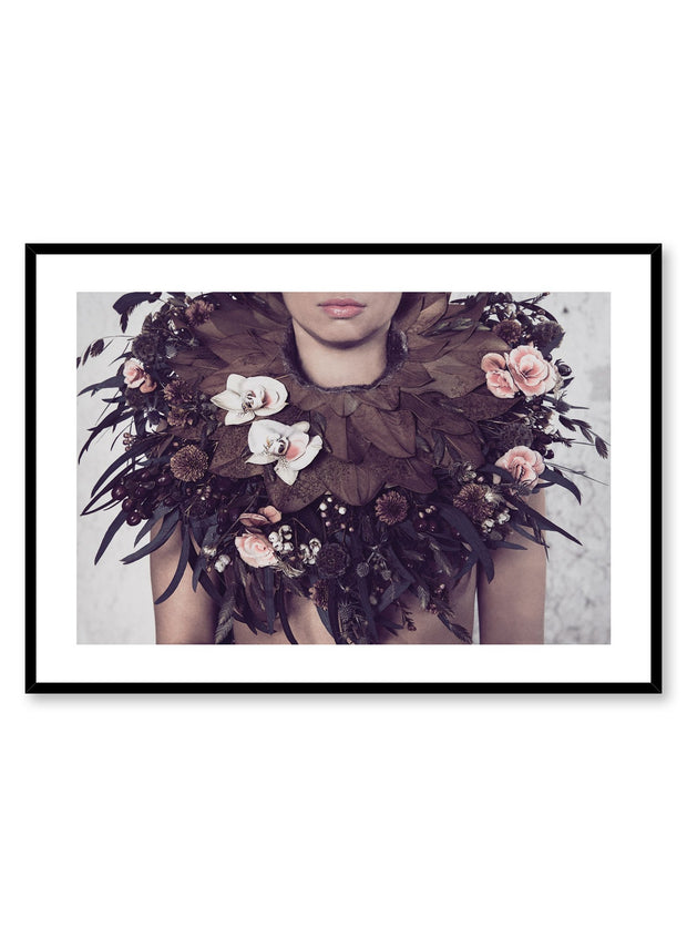 Minimalist design photography poster of Flamboyant Collar by Love Warriors Creative Studio - Buy at Opposite Wall