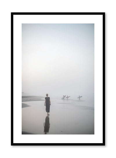 Minimalist design beach photography poster of All is Calm by Love Warriors Creative Studio - Buy at Opposite Wall