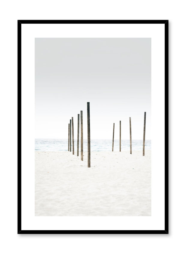 Minimalist design photography poster of Sandy Beach by Love Warriors Creative Studio - Buy at Opposite Wall
