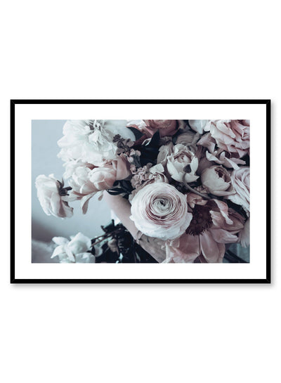 Minimalist design floral photography poster of Bouquet by Love Warriors Creative Studio - Buy at Opposite Wall