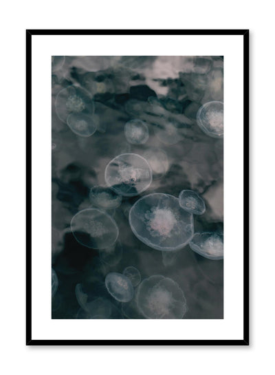 Minimalist design poster by Opposite Wall with nature photography of Vancouver Island Jellyfish in the ocean
