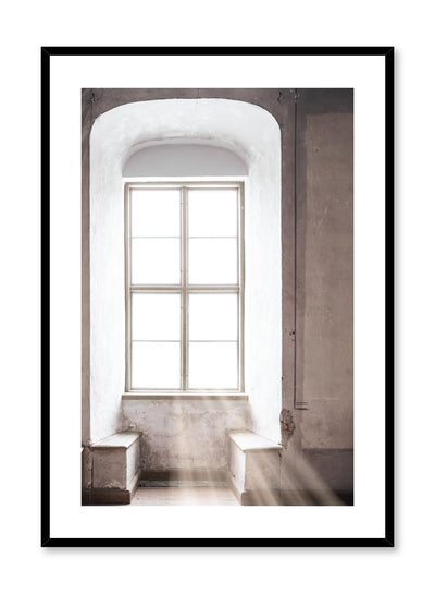 Minimalist design photography poster of Rays of Light window by Love Warriors Creative Studio - Buy at Opposite Wall