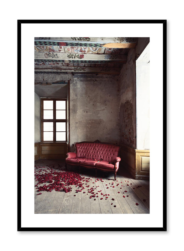 Minimalist design photography poster of Antique Room with flowers by Love Warriors Creative Studio - Buy at Opposite Wall