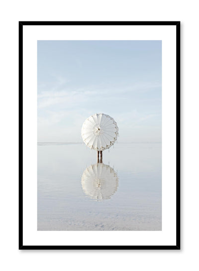Minimalist design photography poster of Umbrella's Reflection by Love Warriors Creative Studio - Buy at Opposite Wall