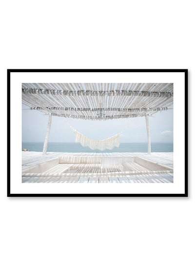 Minimalist design photography poster of Seaside Hammock by Love Warriors Creative Studio - Buy at Opposite Wall