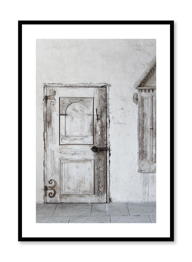 Minimalist design photography poster of Antique Door by Love Warriors Creative Studio - Buy at Opposite Wall