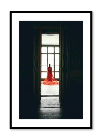 Minimalist design photography poster of Seductress lady in red by Love Warriors Creative Studio - Buy at Opposite Wall