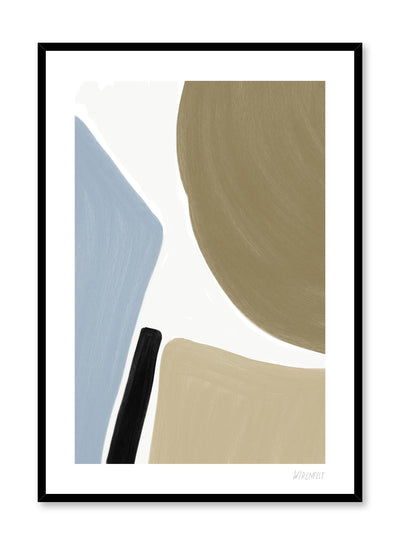 Modern minimalist poster by Opposite Wall with abstract paint design Intersection