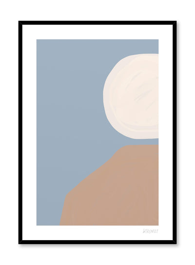 Modern minimalist poster by Opposite Wall with abstract paint design Tranquiity