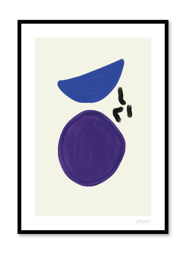 Modern minimalist poster by Opposite Wall with abstract paint design of Balance