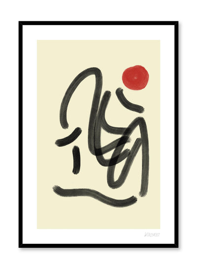 Modern minimalist poster by Opposite Wall with abstract paint design of lines of script