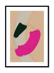 Modern minimalist poster by Opposite Wall with abstract paint design of Loop