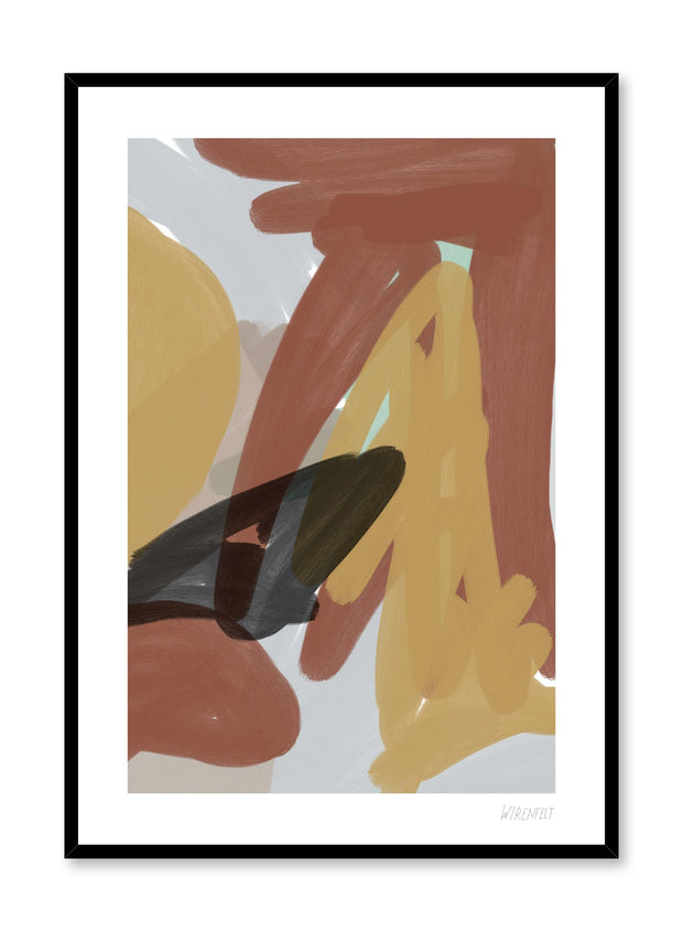 Modern minimalist poster by Opposite Wall with abstract paint design of Free Strokes