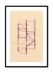 Modern minimalist poster by Opposite Wall with abstract paint design of maze from above