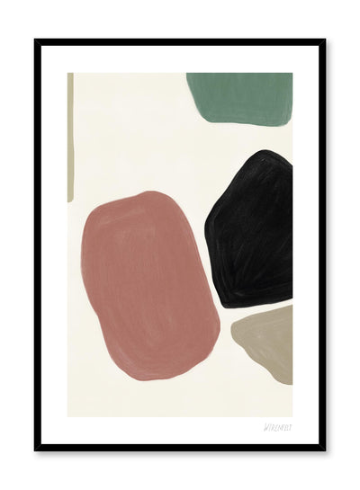 Minimalist abstract art paint design by Lisa Wirenfelt of Muted Beauty - find at Opposite Wall