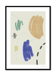 Minimalist abstract art design Lisa Wirenfelt of Youthful Scribbles - find at Opposite Wall