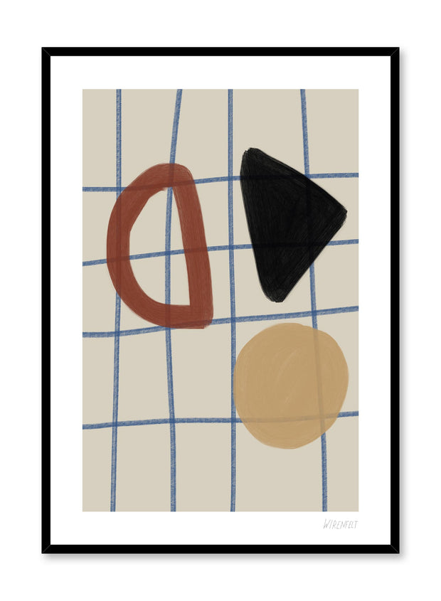 Minimalist abstract art design Lisa Wirenfelt of Tic Tac Toe - find at Opposite Wall