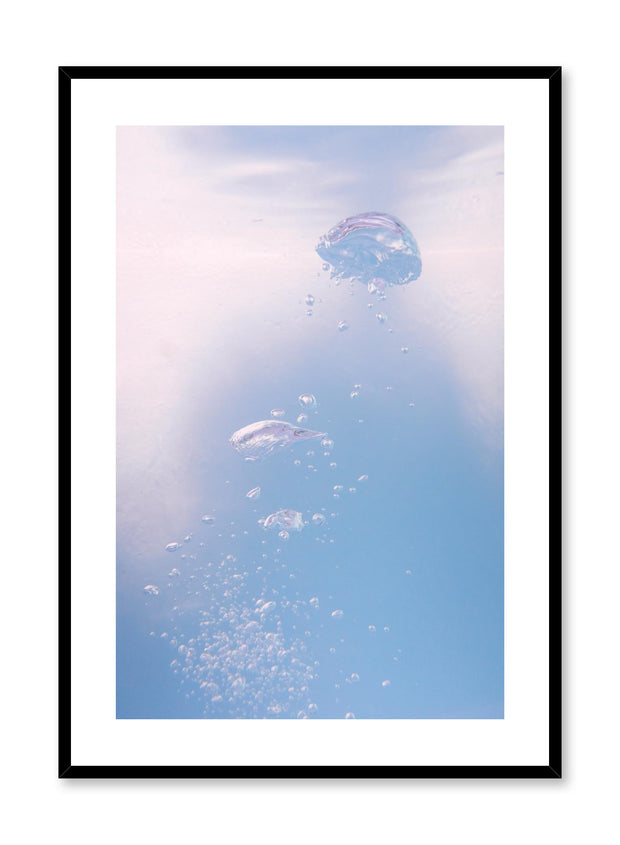 Minimalist design poster by Opposite Wall with nature photography of bubbles in the water