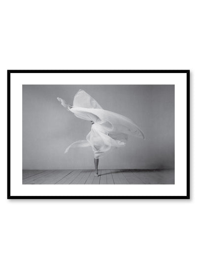 Minimalist design poster by Opposite Wall with fashion photography of Degas dancer in black and white
