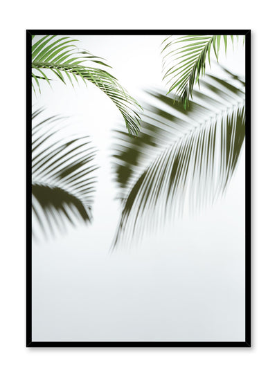 Minimalist design poster by Opposite Wall with nature photography of Tropic Blur palm leaves