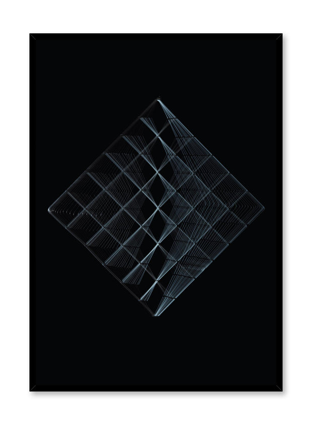 Minimalist design poster by Opposite Wall with abstract photography of Cubic Landscape
