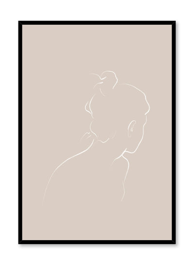 Modern minimalist poster by Opposite Wall with abstract illustration of Into the Distance with beige background