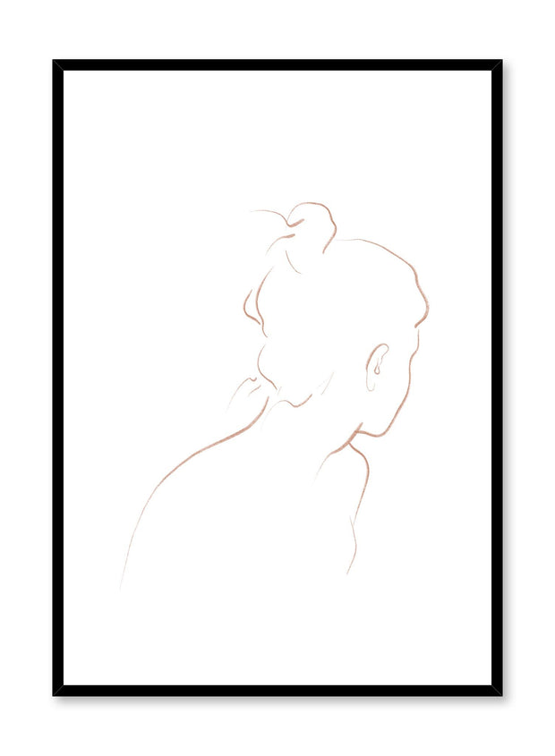 Modern minimalist poster by Opposite Wall with abstract illustration of Into the Distance with beige line art