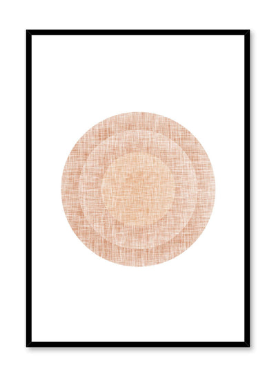 Minimalist design poster by Opposite Wall with abstract orange circles in target shape