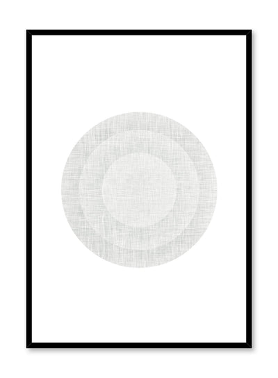 Minimalist design poster by Opposite Wall with abstract grey circles in target shape